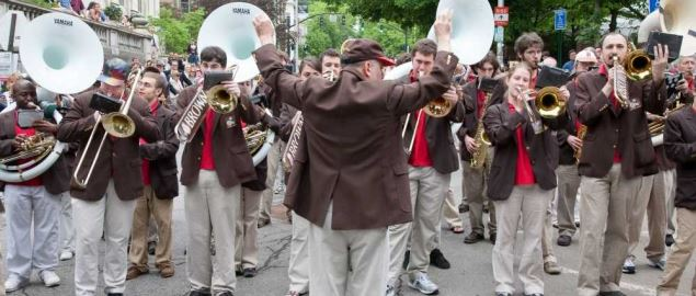 Brown University's marching band at Commencement 2009.