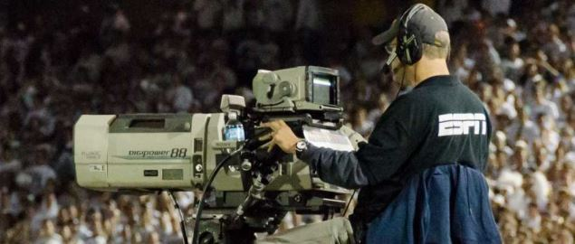 ESPN camera man during a live event in 2013.