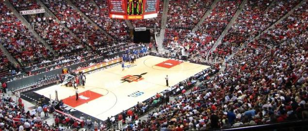 Cox Arena, home arena for the San Diego State Aztecs.